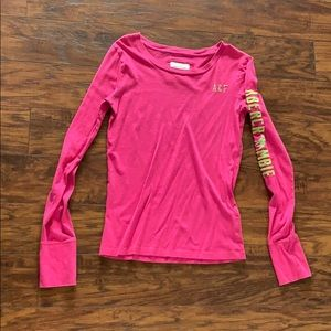 Abercrombie and Fitch Long Sleeve Pink Tee